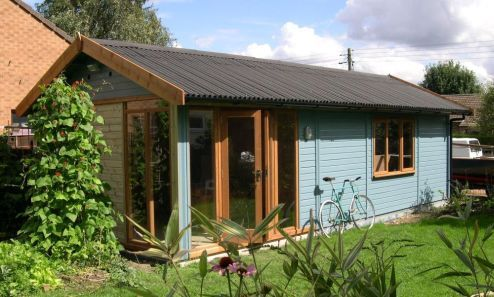 Garden shed warwick garage timber garages workrooms for Contemporary garden office buildings